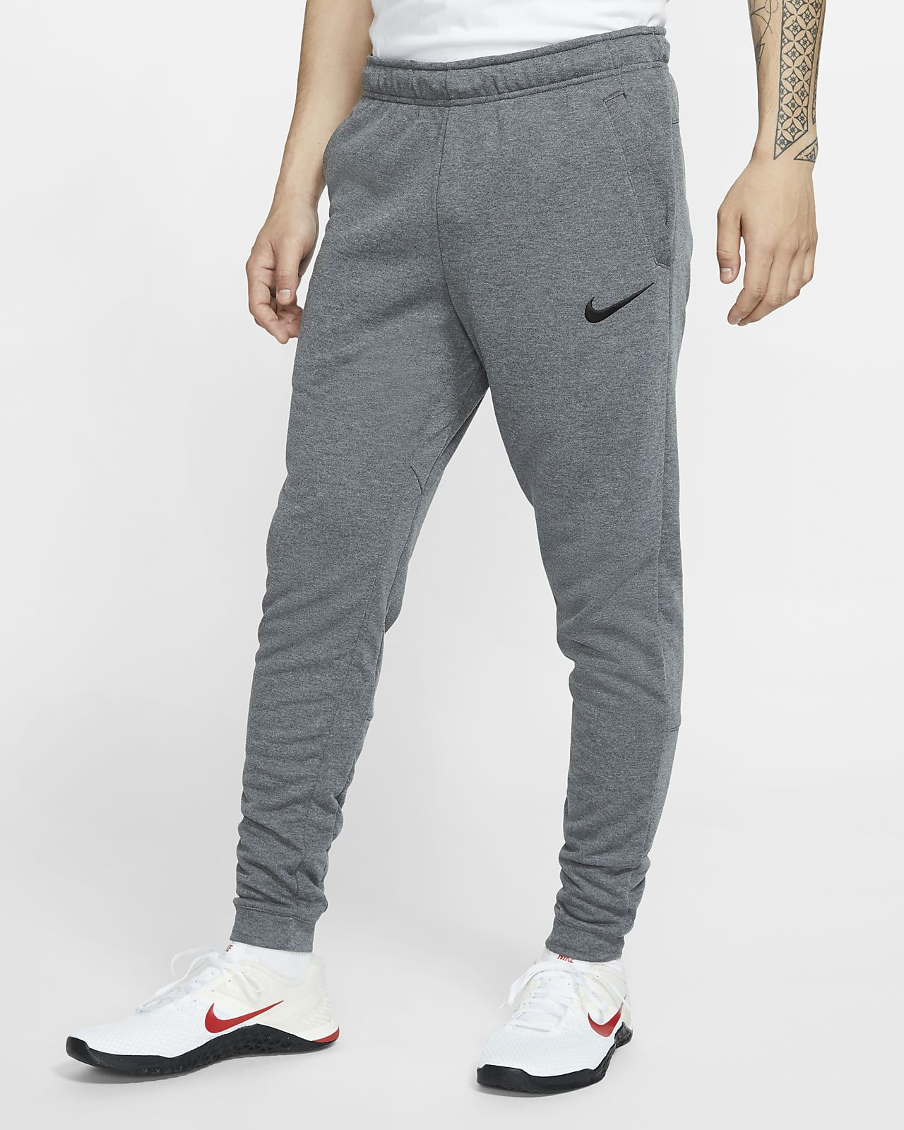 Nike Dri-FIT Trainingsbroek met toelopend design en fleece voor heren