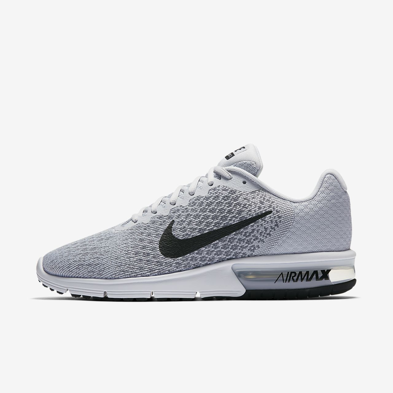 Nike Running Air Max Sequent Trainers In Grey And Blue