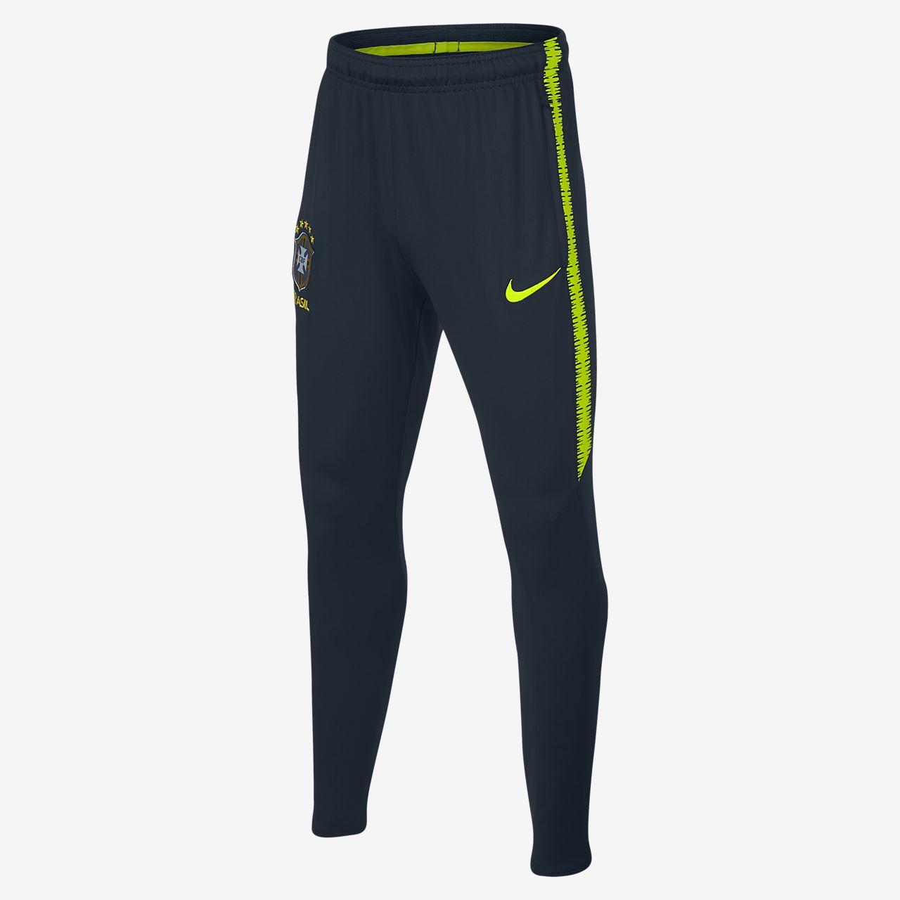 6a3176c45a938 ... Pantalones de fútbol para niños talla grande Brasil CBF Dri-FIT Squad
