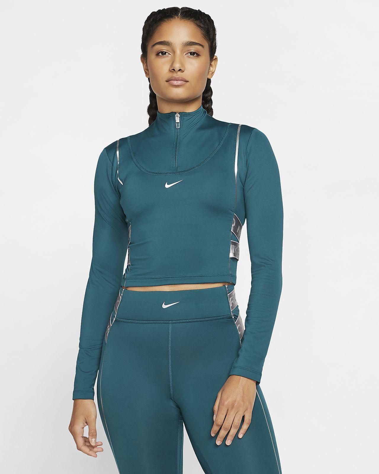 Haut à manches longues et demi-zip Nike Pro HyperWarm pour Femme