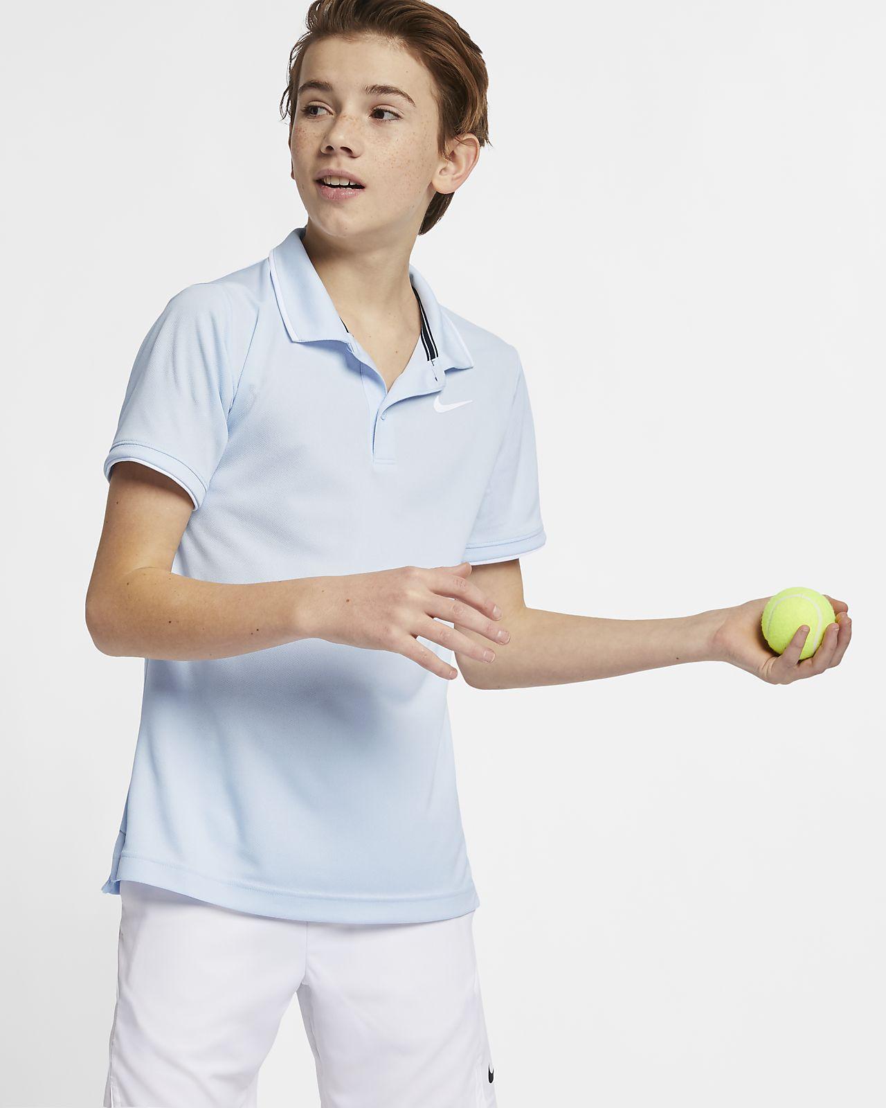 NikeCourt Dry-FIT – tennispolo til store børn (drenge)