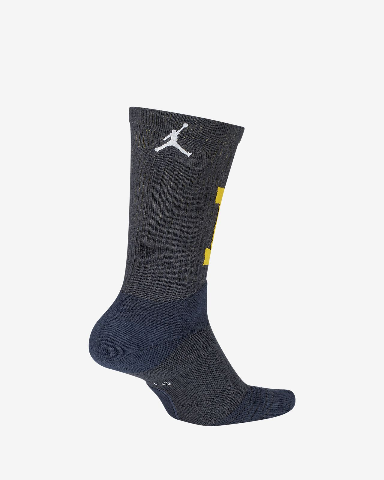 Nike College Elite (Michigan) Basketball Crew Socks