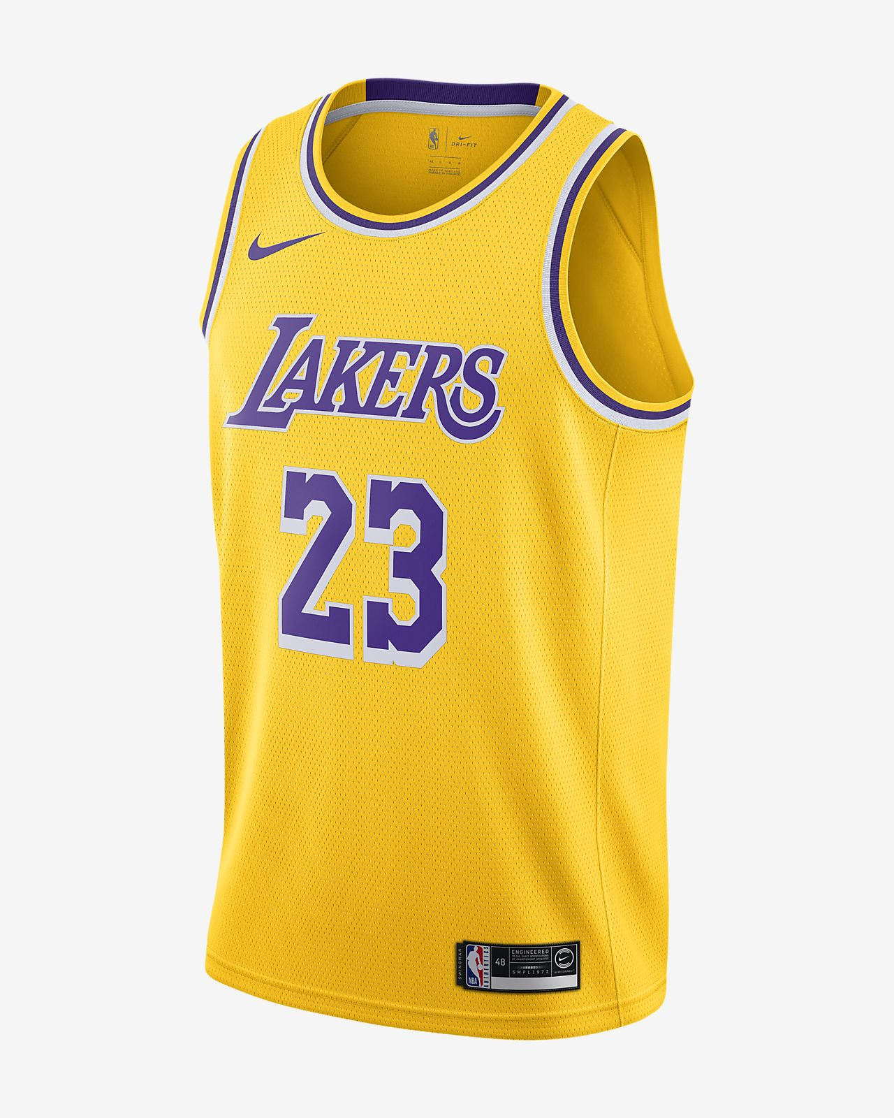 LeBron James Icon Edition Swingman (Los Angeles Lakers) Nike NBA Connected Trikot für Herren