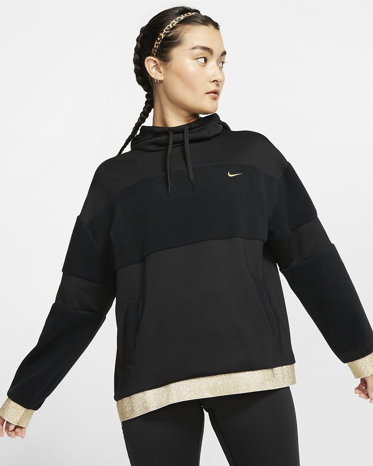 Sweat à capuche de training en tissu Fleece Nike Icon Clash pour Femme