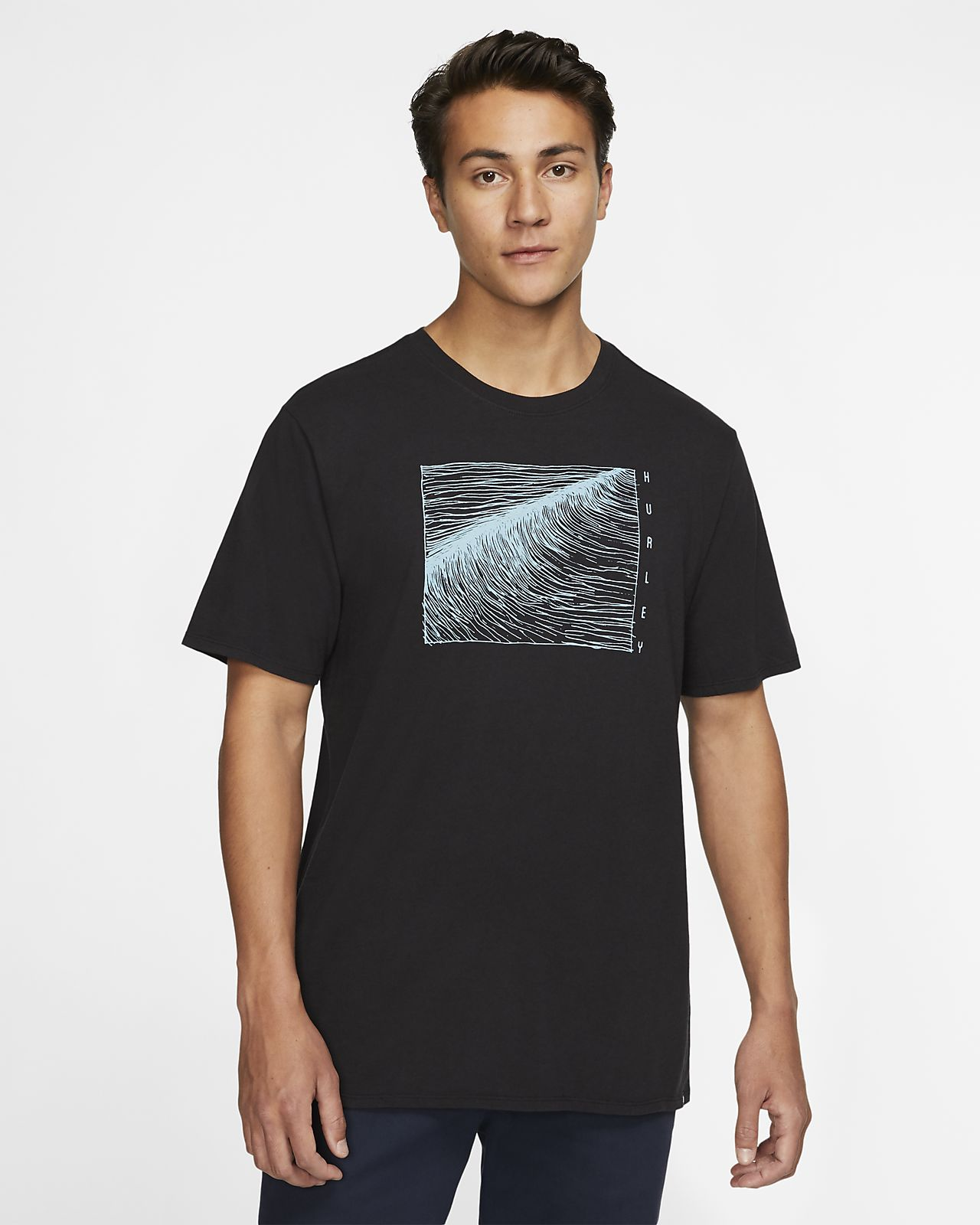Hurley Linear Wave-T-shirt til mænd