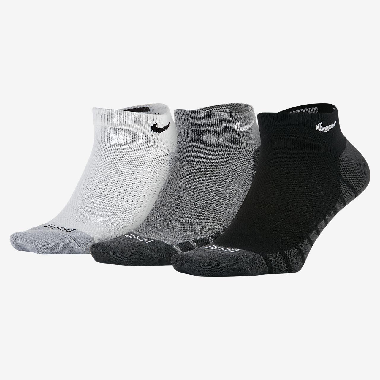 Calcetines de entrenamiento Nike Dry Lightweight No-Show (3 pares)