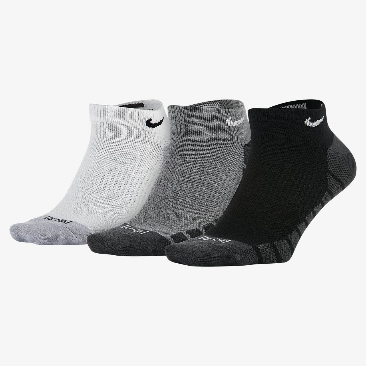 Nike Dry Lightweight No-Show treningssokker (3 par)