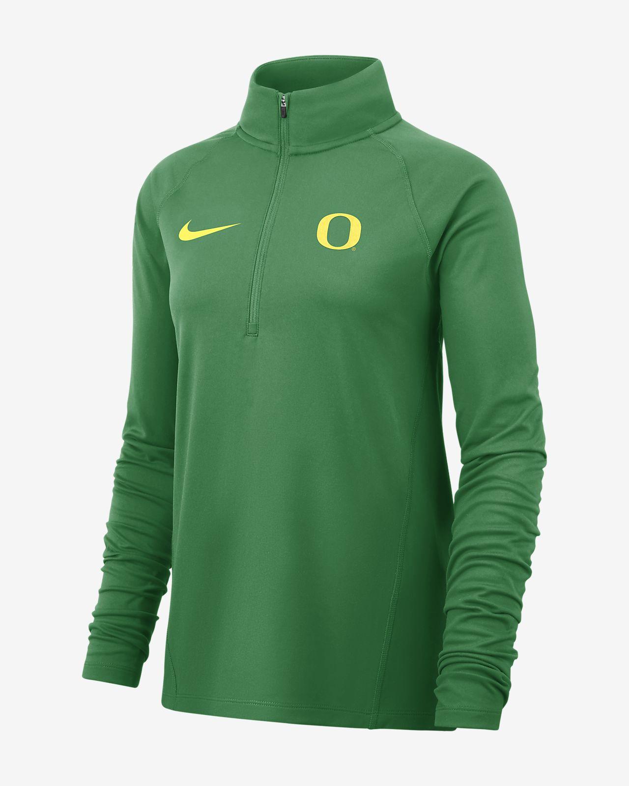 Nike College Therma (Oregon) Women's Long-Sleeve 1/2-Zip Top