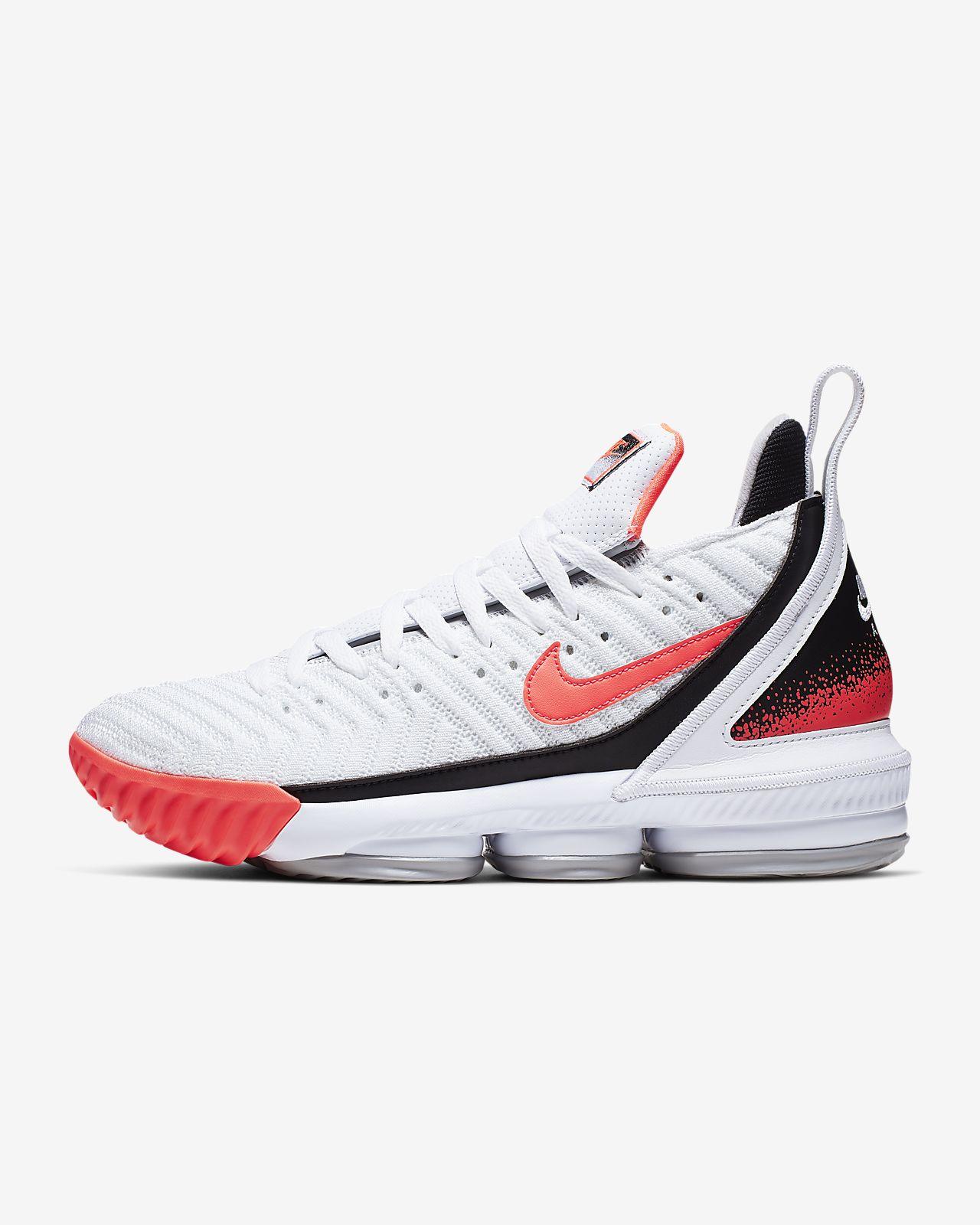 LeBron XVI Hot Lava White Basketball Shoe