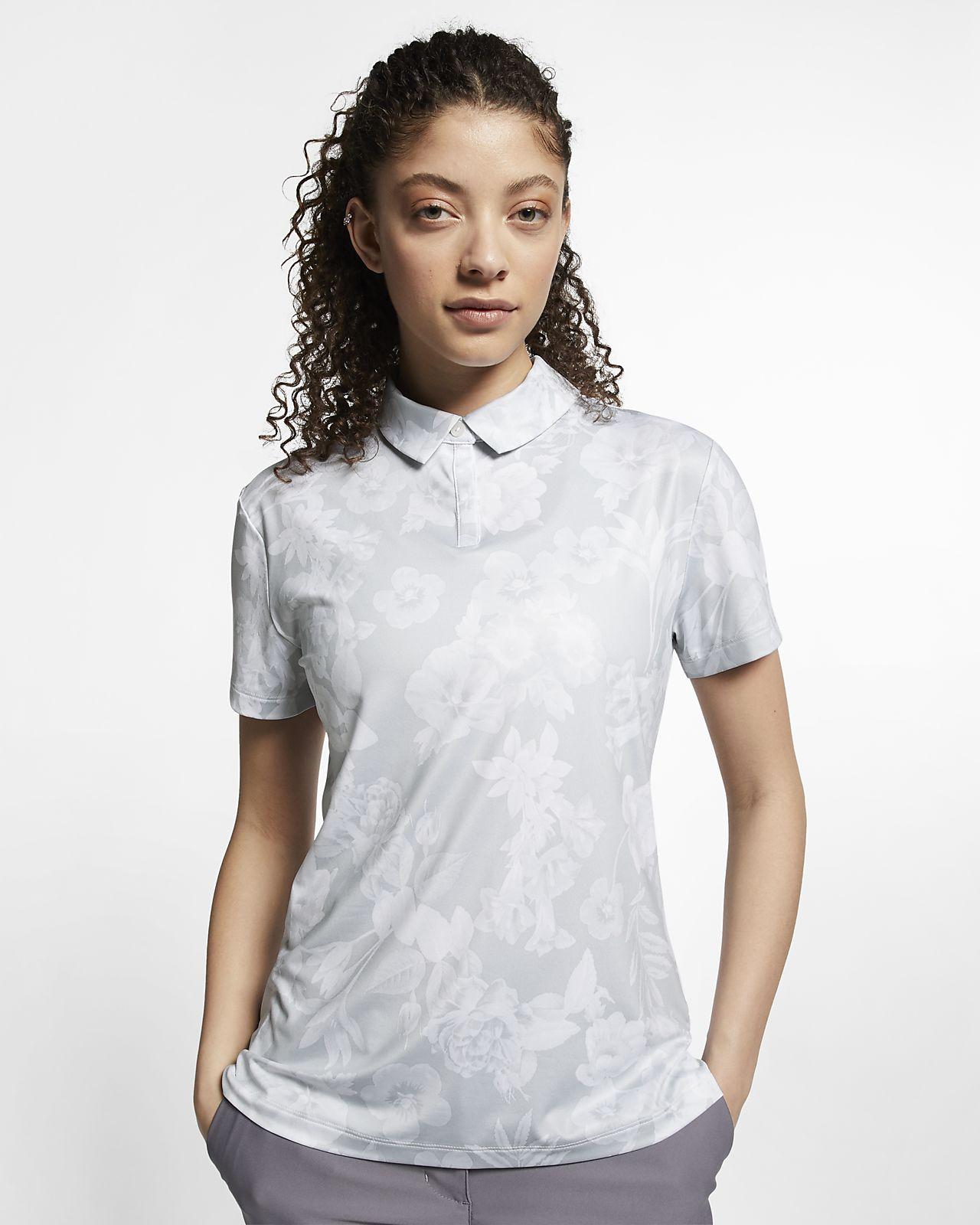 Polo de golf estampada para mujer Nike Dri-FIT UV