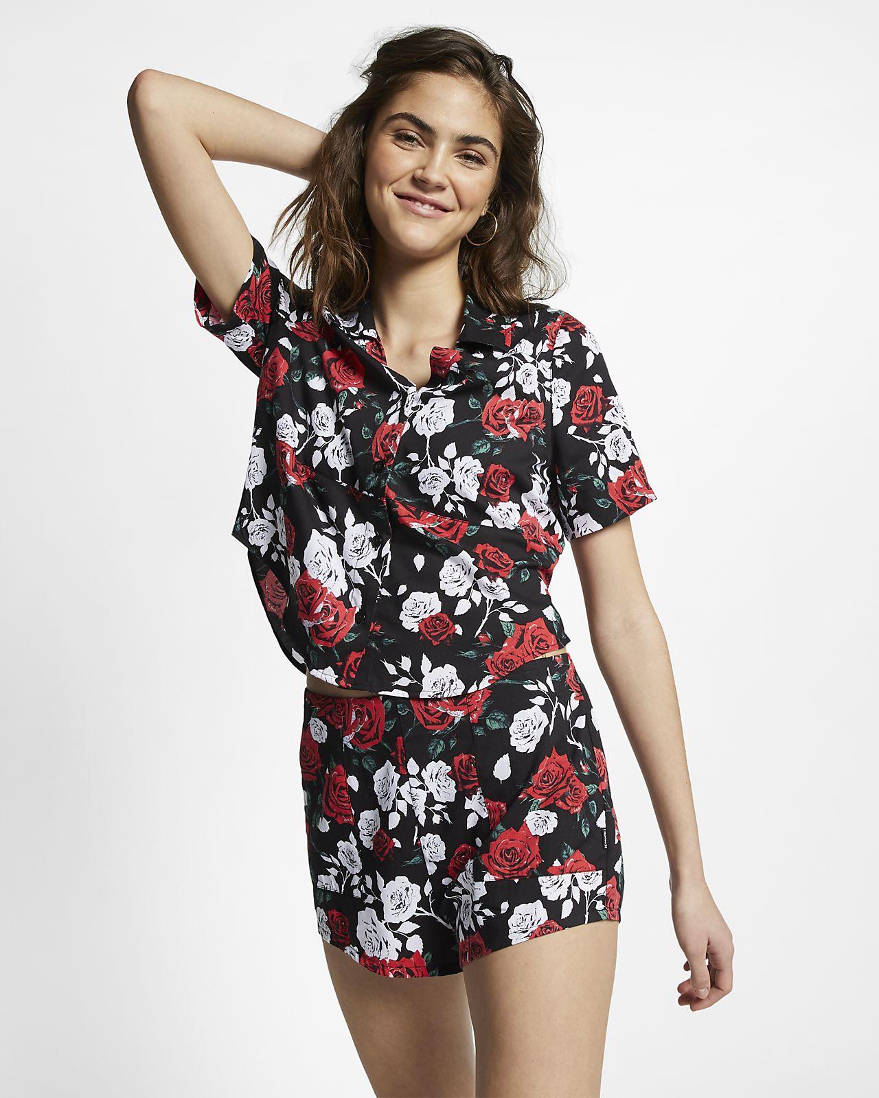 Hurley Wilson Rosez Women's Woven Short-Sleeve Top