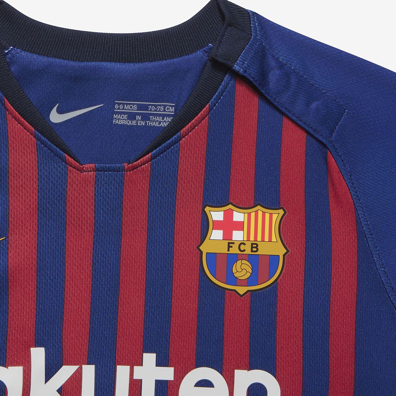Uniforme de fútbol para bebé 2018 19 FC Barcelona Stadium Home. Nike ... bd4d21f530c20
