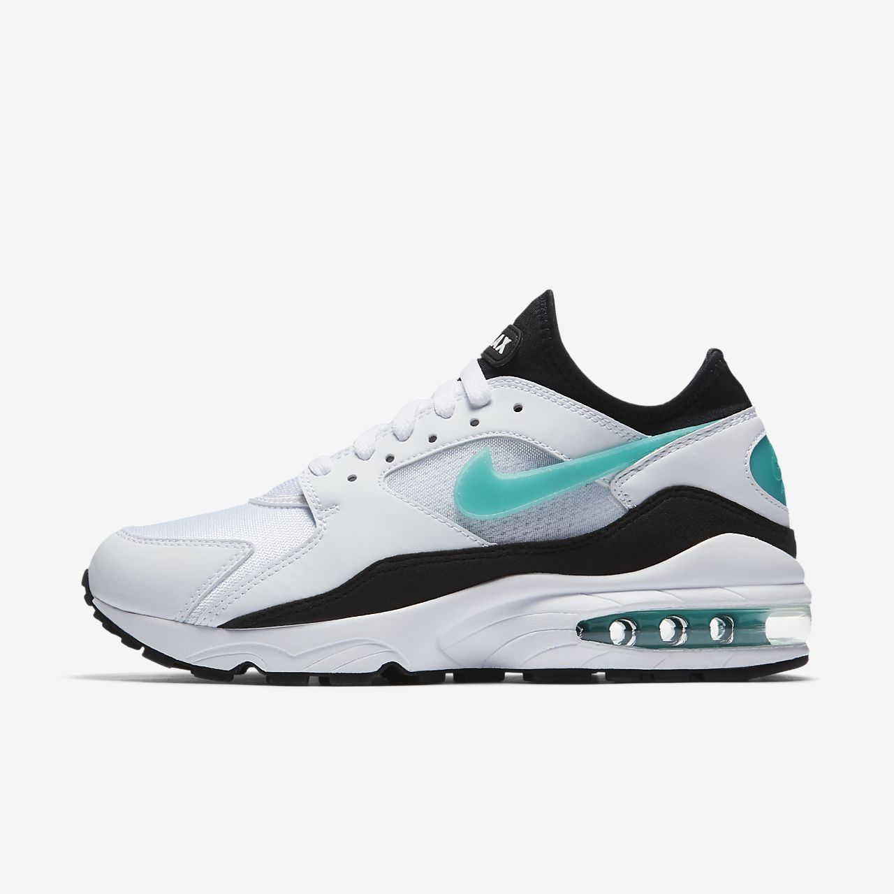 Womens Nike Air Max 93 White Black Dusty Cactus 307167-100