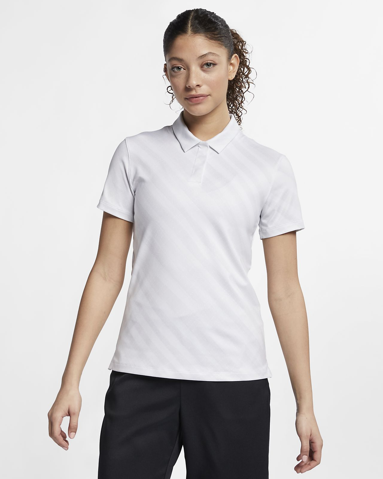 Polo de golf estampada para mujer Nike Dri-FIT UV