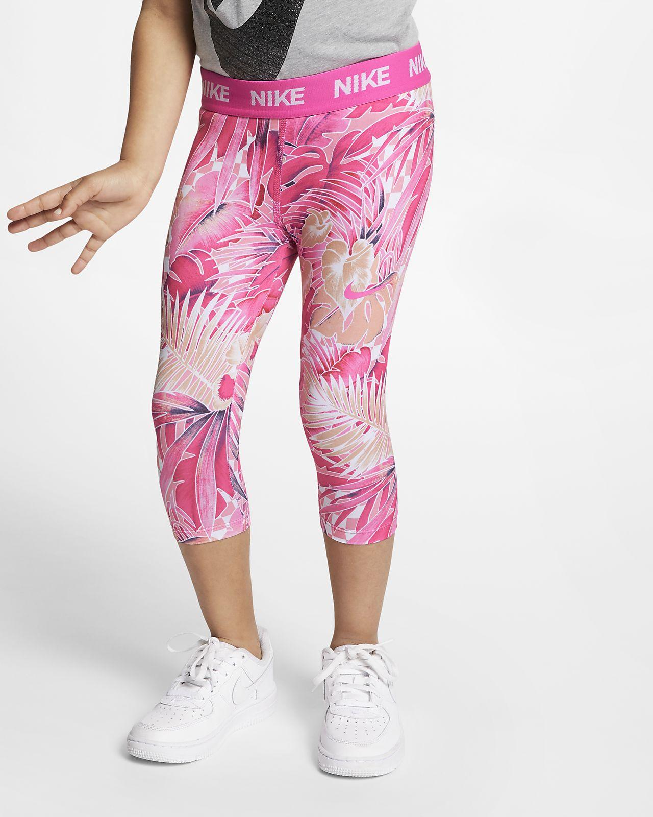 Nike-leggings i 3/4-længde med print til små børn