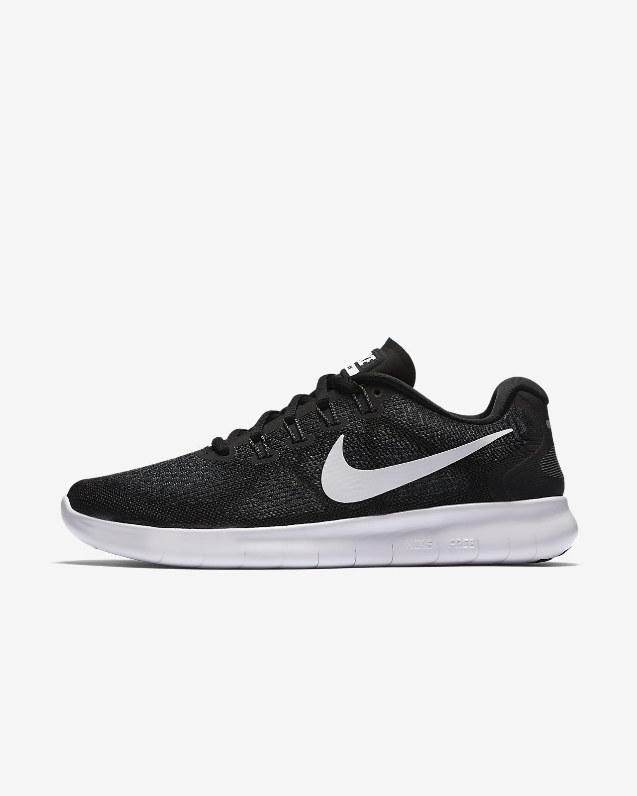 womens black and white nike free run