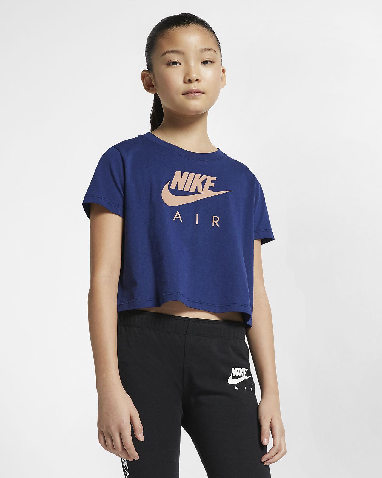 Μπλούζα με κοντό μήκος Nike Air για μεγάλα κορίτσια