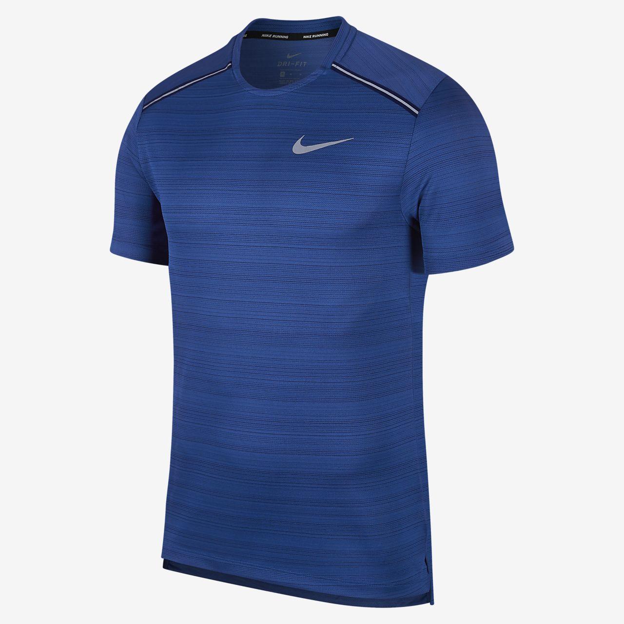 Haut de running à manches courtes Nike Dri-FIT Miler pour Homme