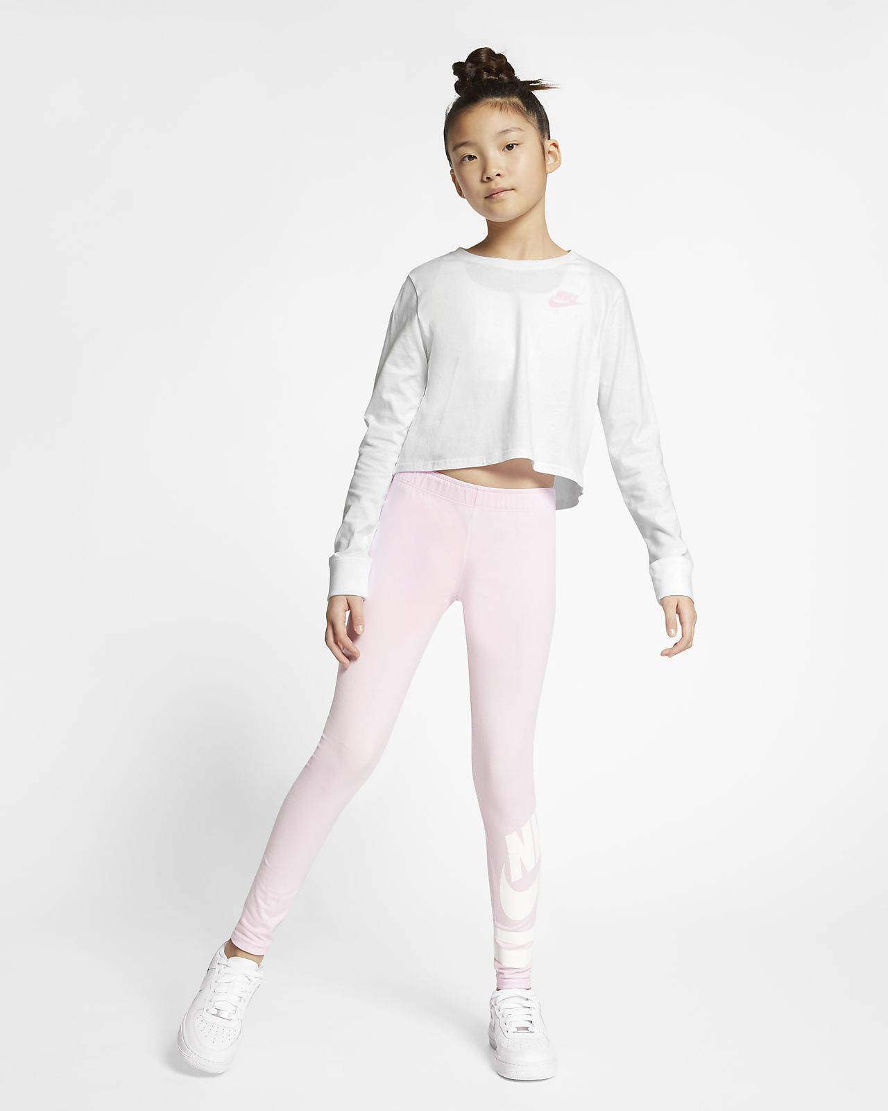 72b6b259e0b14d Nike Air Older Kids  (Girls ) Long-Sleeve Crop Top. Nike.com NO