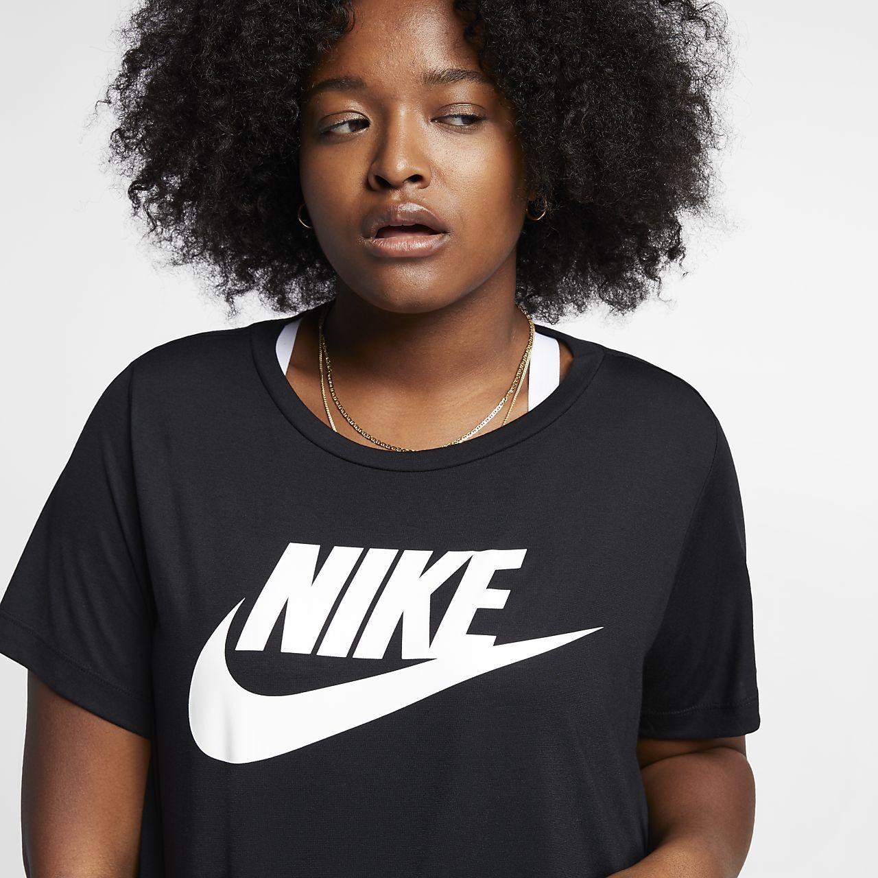 tee shirt nike sportswear essential pour femme grande taille fr. Black Bedroom Furniture Sets. Home Design Ideas
