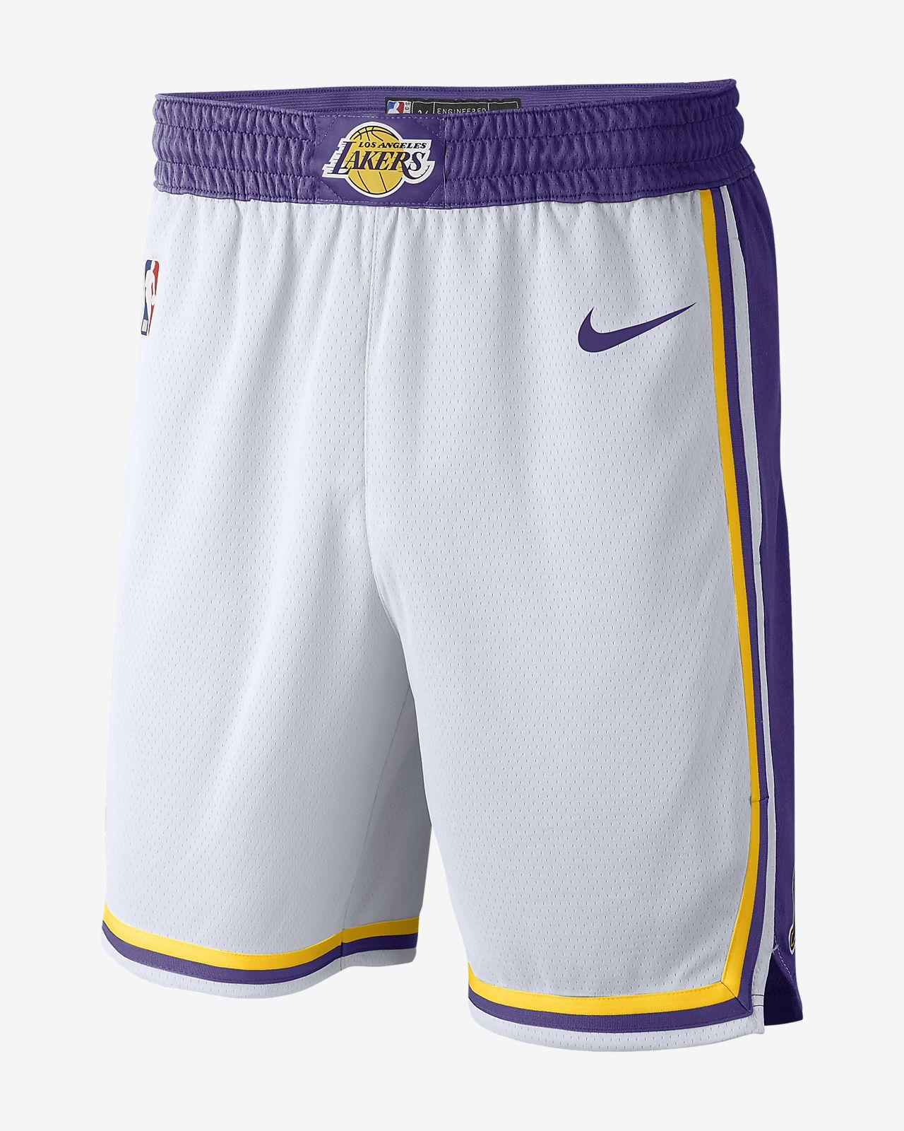 Los Angeles Lakers Association Edition Swingman Nike NBA-shorts för män