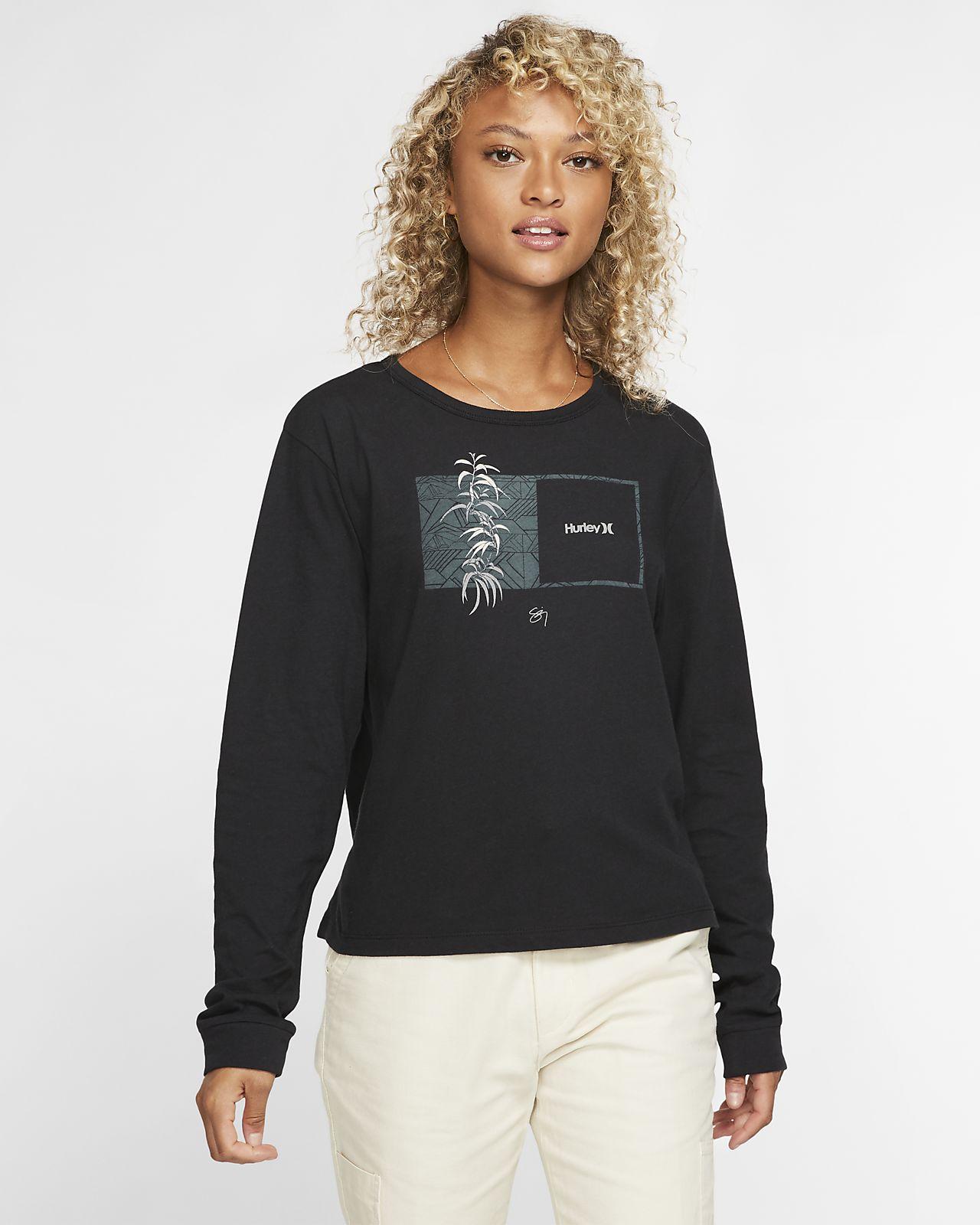 Hurley Sig Zane Perfect Langarm-T-Shirt für Damen