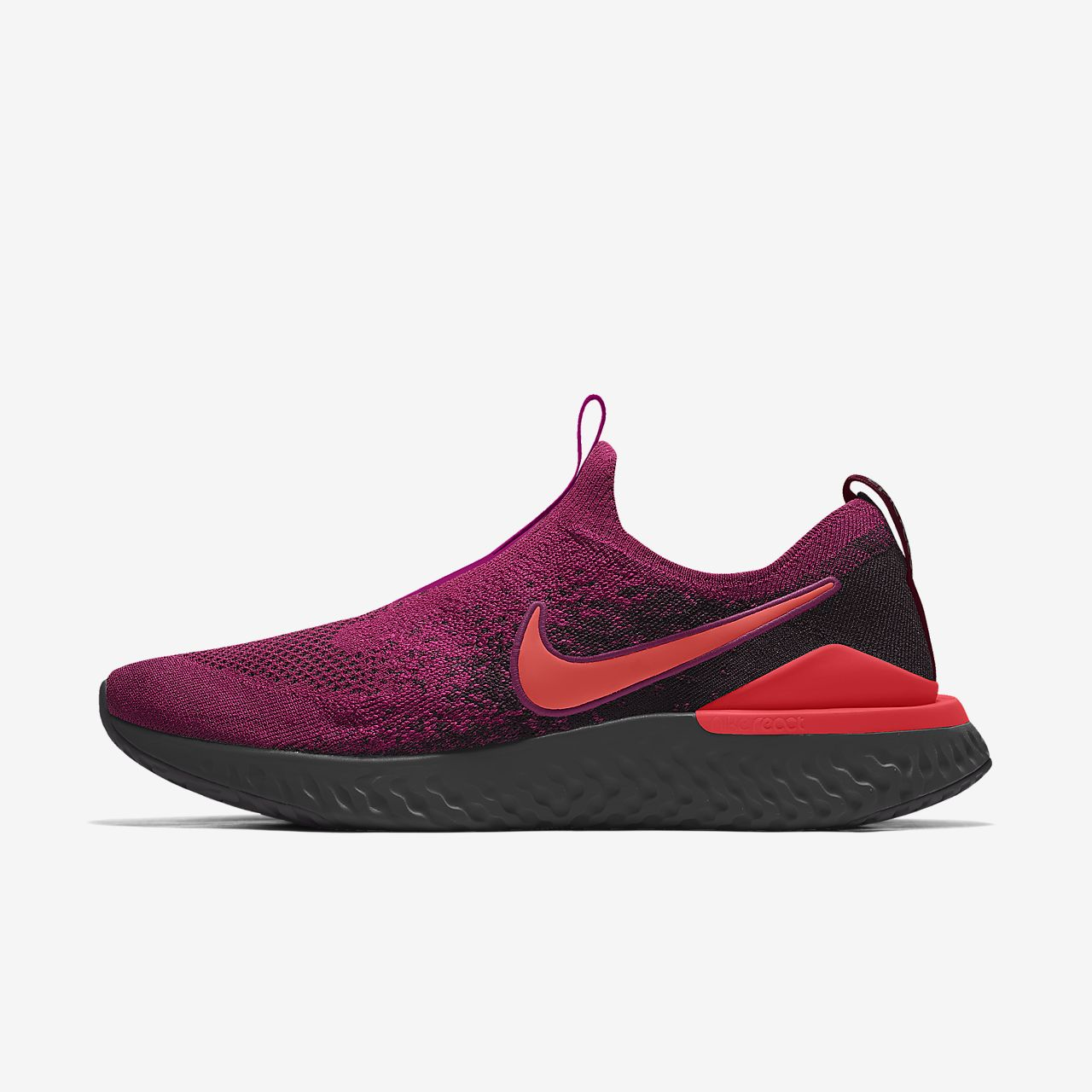Nike Epic Phantom React Flyknit By You Custom Women's Running Shoe