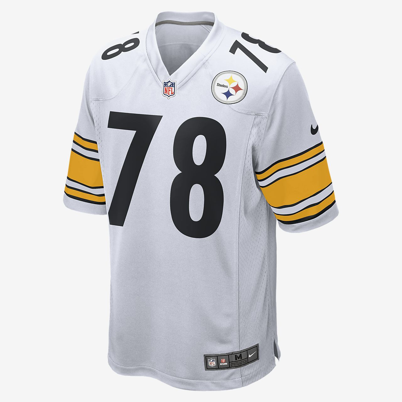 info for 9299e e6f21 NFL Pittsburgh Steelers (Alejandro Villanueva) Men's Football Away Game  Jersey