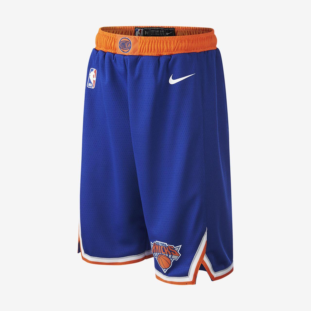 Short NBA New York Knicks Icon Edition Swingman Nike pour Enfant plus âgé