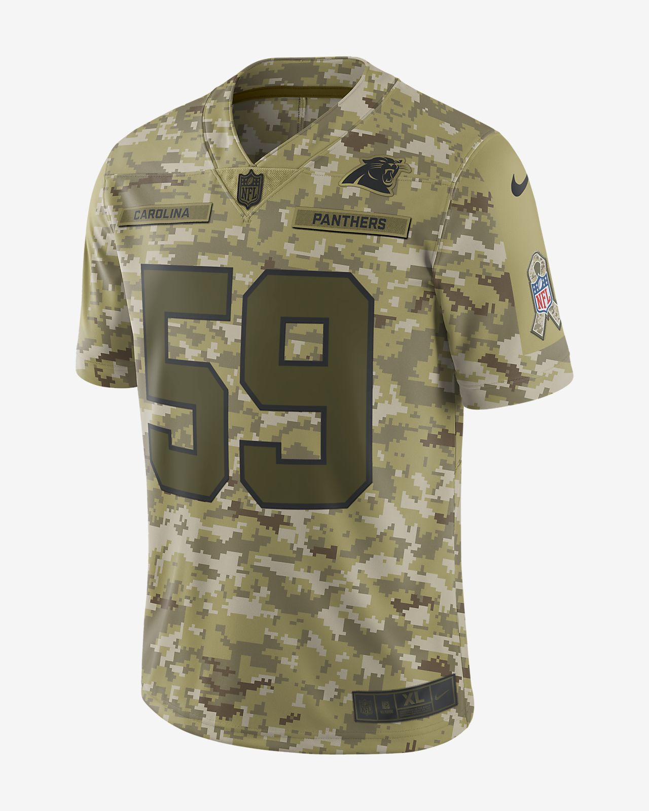 NFL Carolina Panthers Salute to Service Limited Jersey (Luke Kuechly ... b8cf8e771