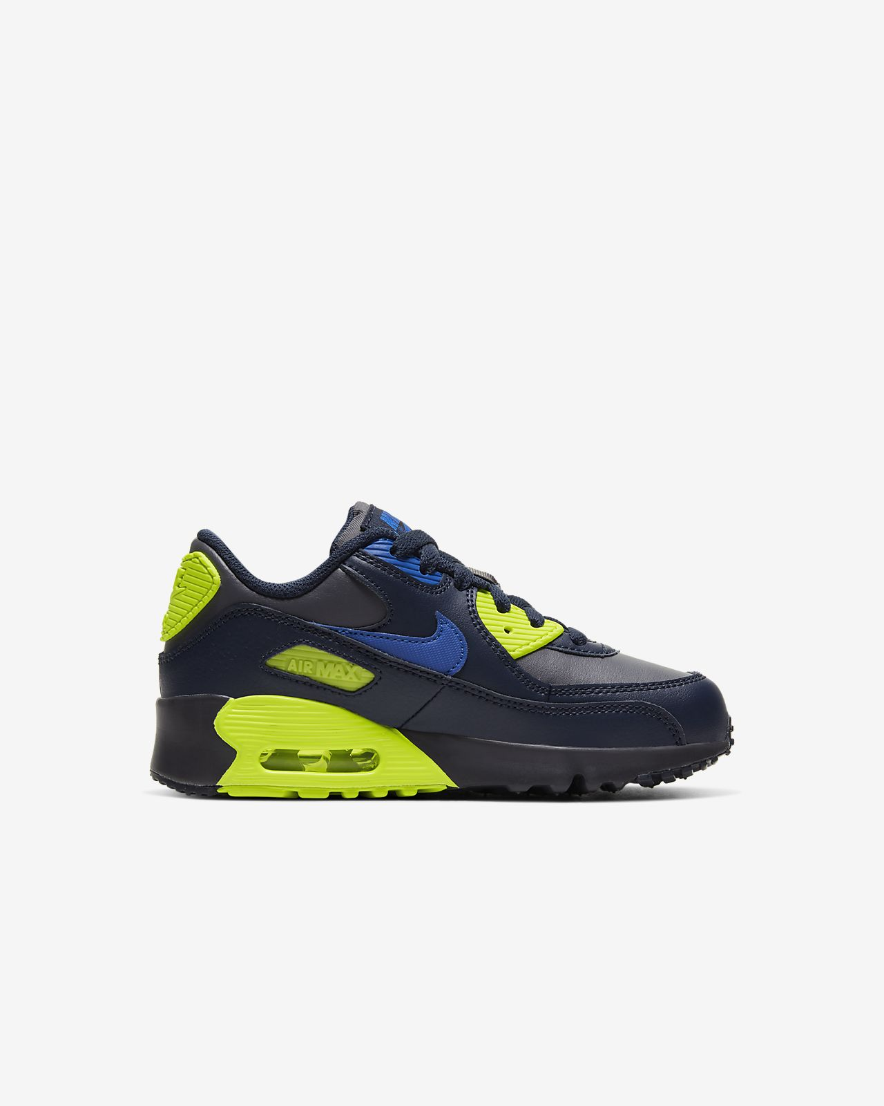 Nike Air Max 90 Leather Preschool Boys' Casual Shoe
