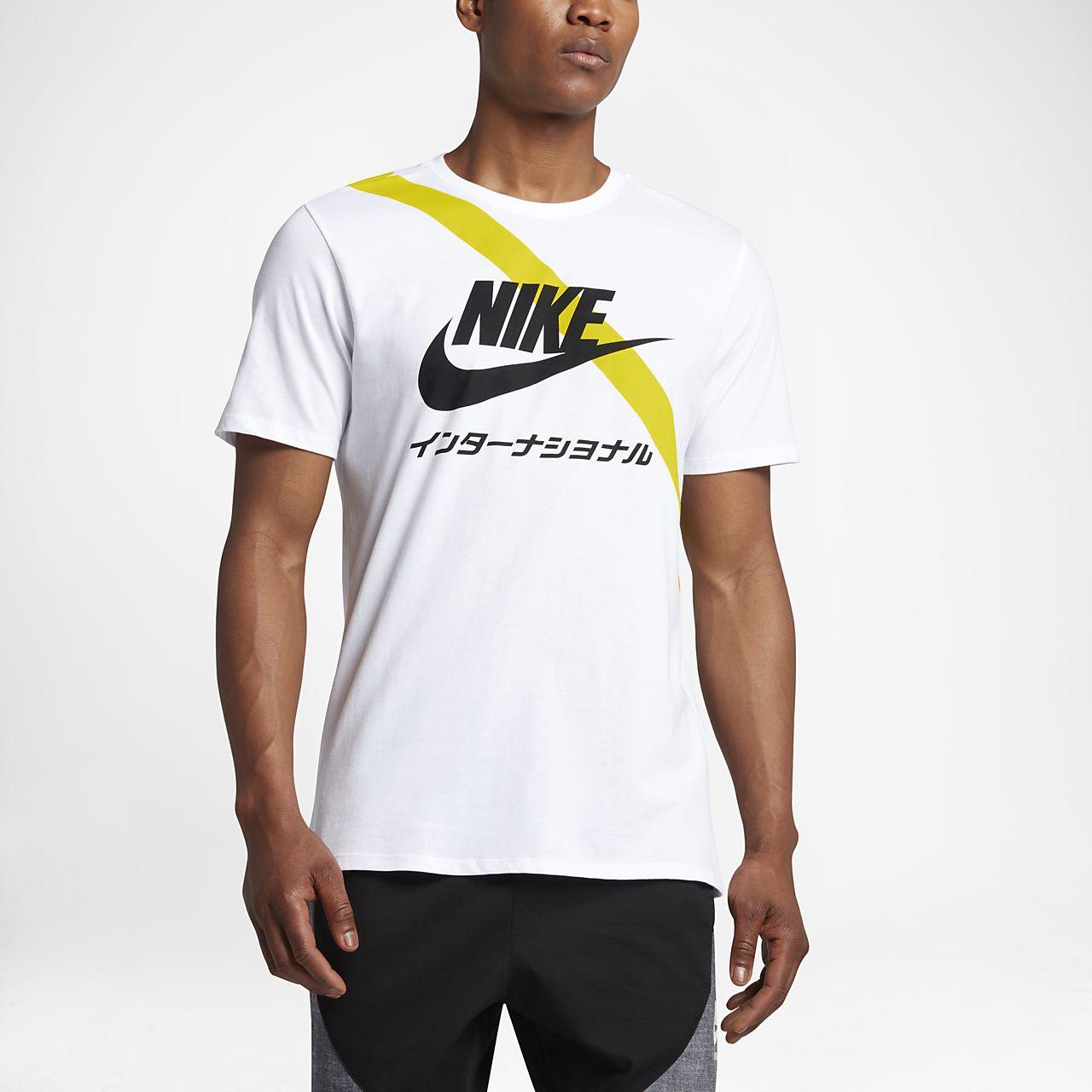 Nike International Men's T-Shirts Black/White