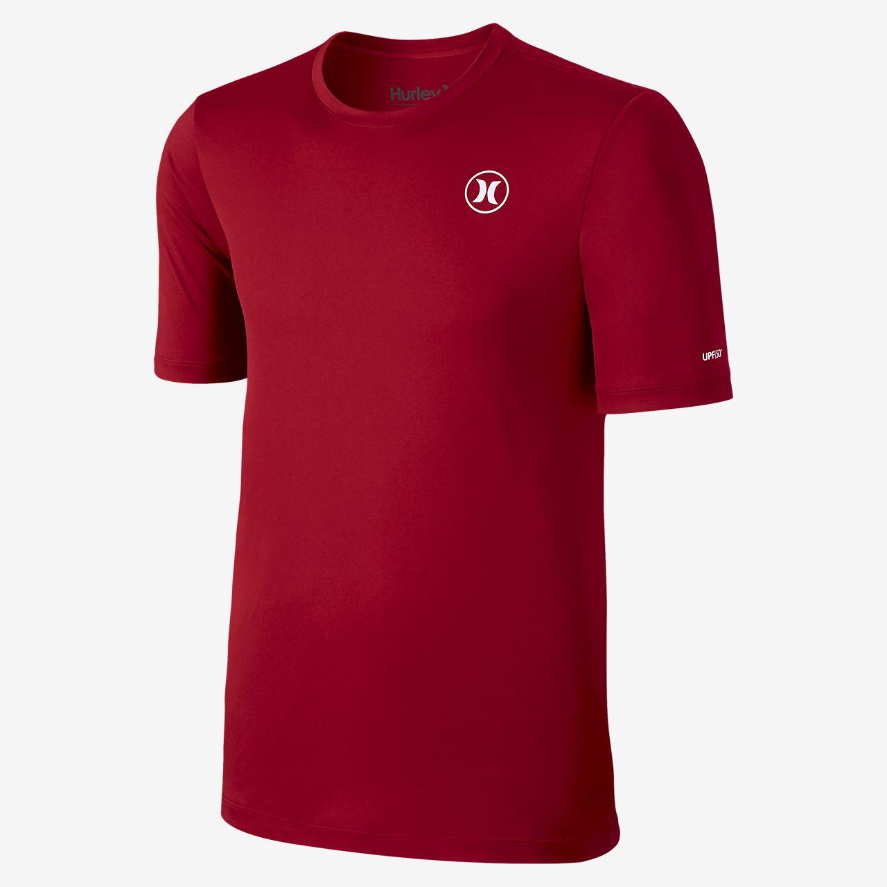 Nike Hurley Dri-FIT Icon Long-Sleeve Surf Shirt Boys Gym Red