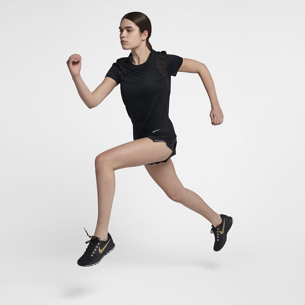 8d1e0e4bf358eb Camisola de running de manga curta Nike para mulher