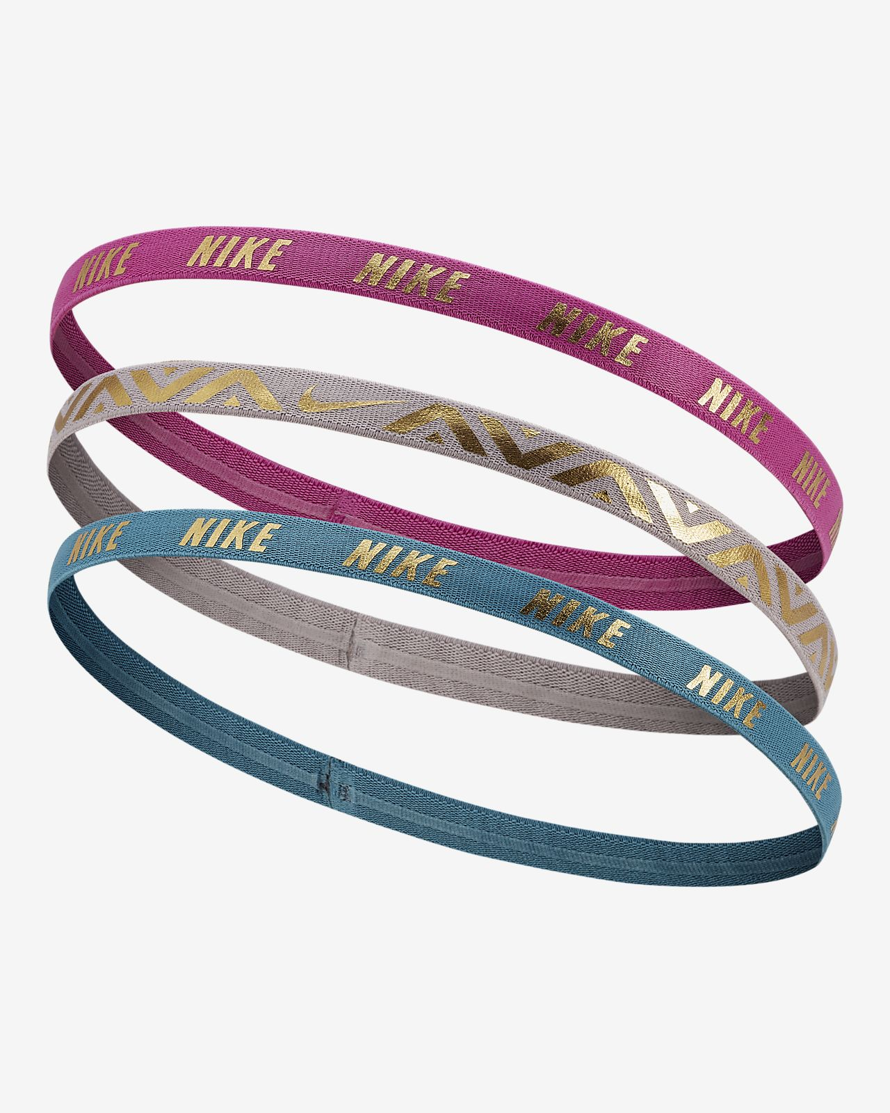 ... Nike Metallic Hairbands (3 Pack)