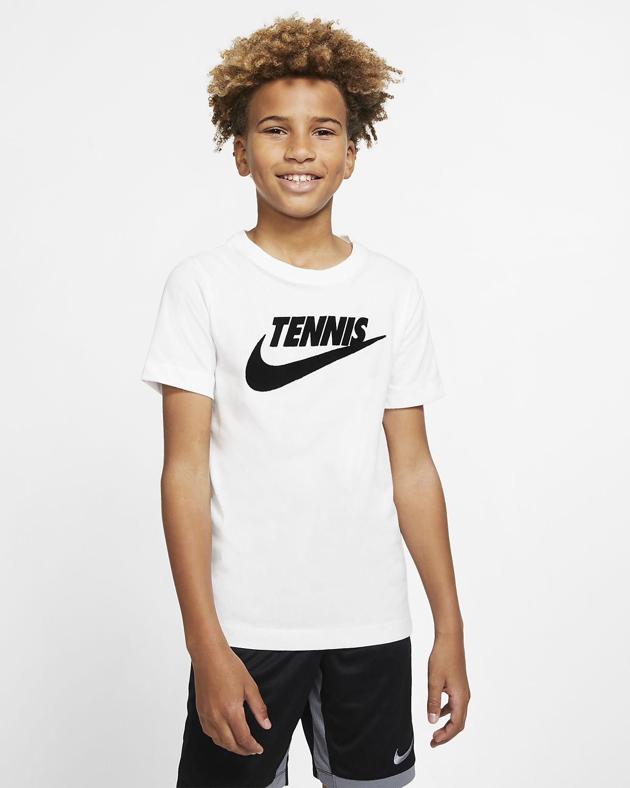 Tennis-t-shirt med grafik NikeCourt Dri-FIT för killar