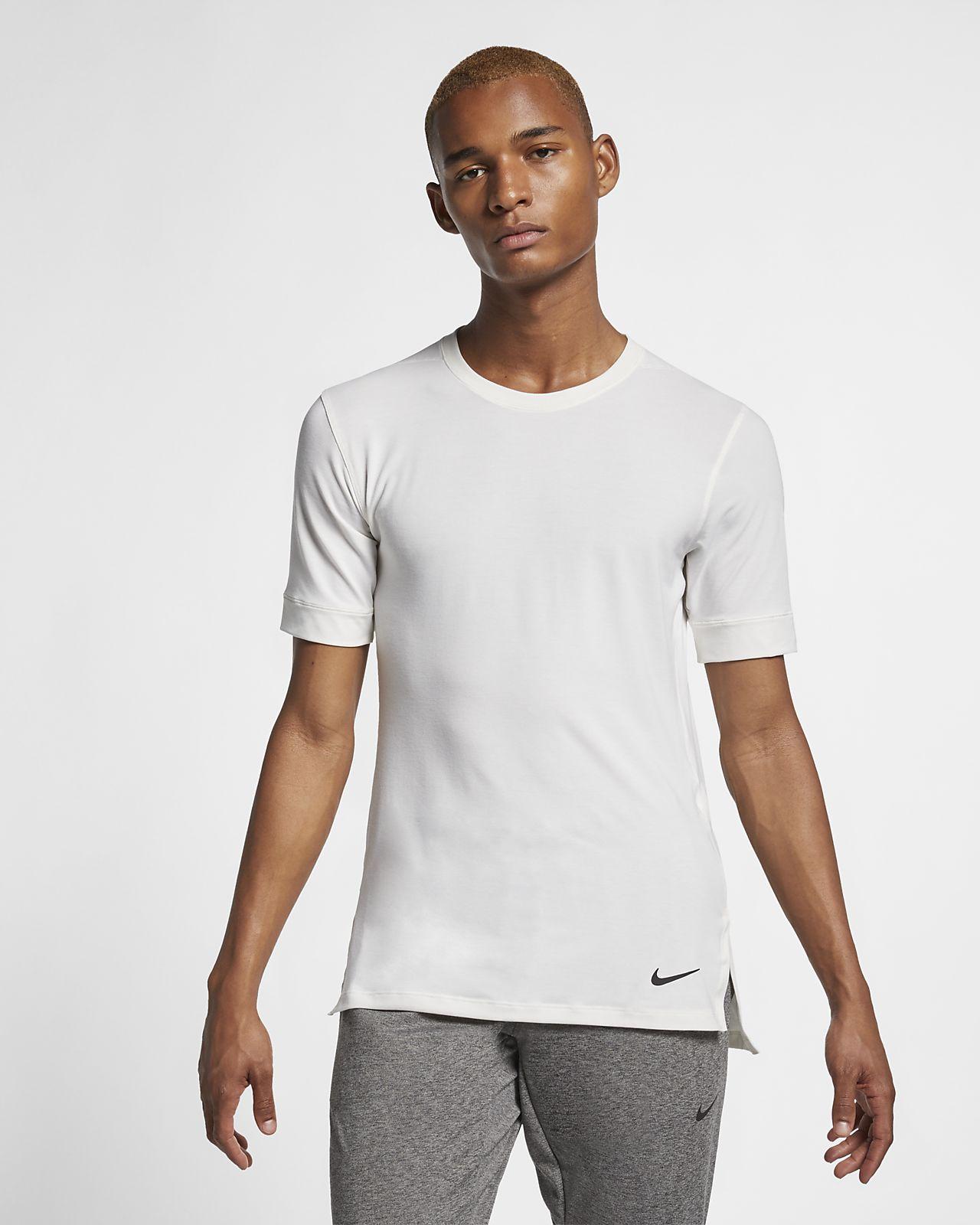 Pánské tréninkové tričko s krátkým rukávem na jógu Nike Dri-FIT