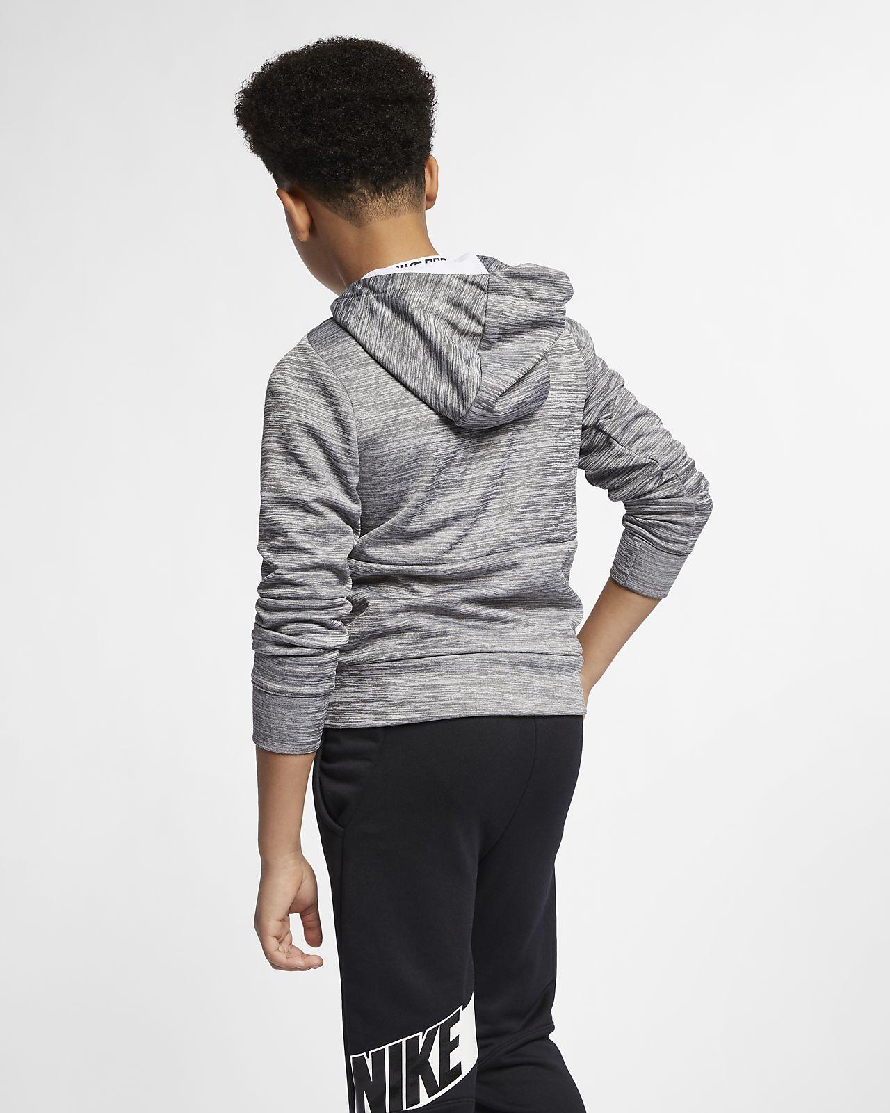 64c7a1129 Nike Dri-FIT Therma Older Kids' (Boys') Full-Zip Training Hoodie ...