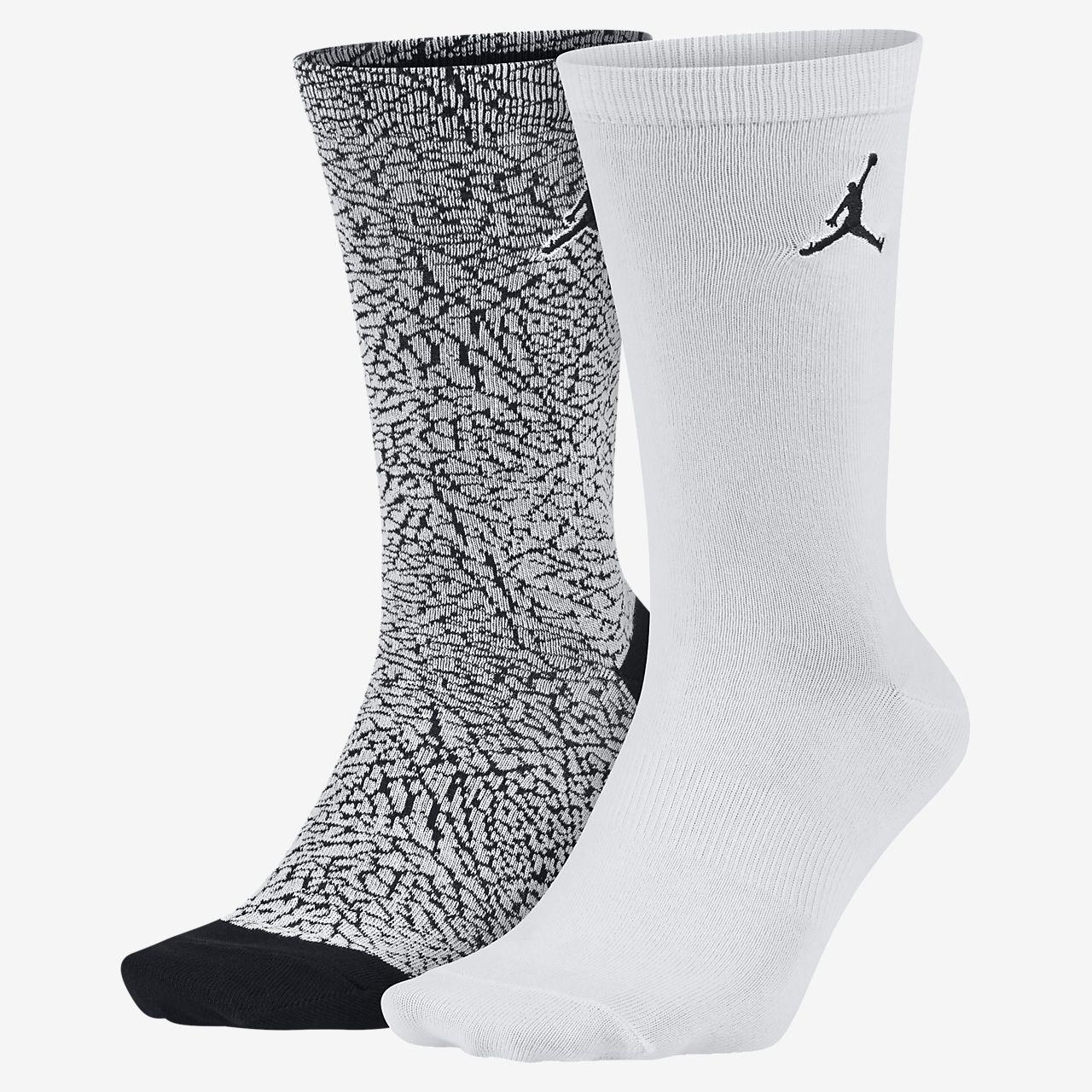 022b43da0f8c Jordan Elephant Print Crew Socks (2 Pair). Nike.com AU