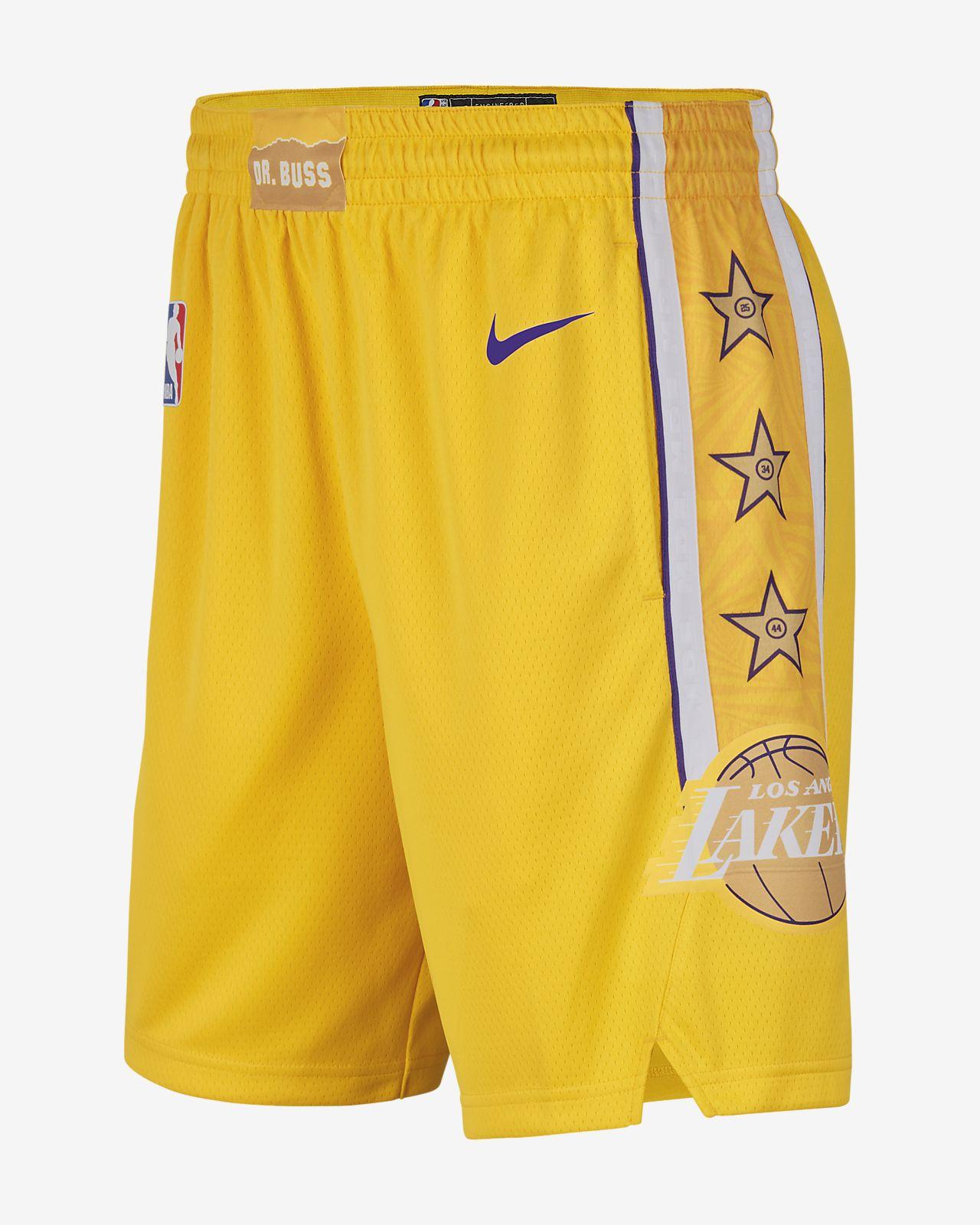 Lakers City Edition Nike NBA Swingman Şort