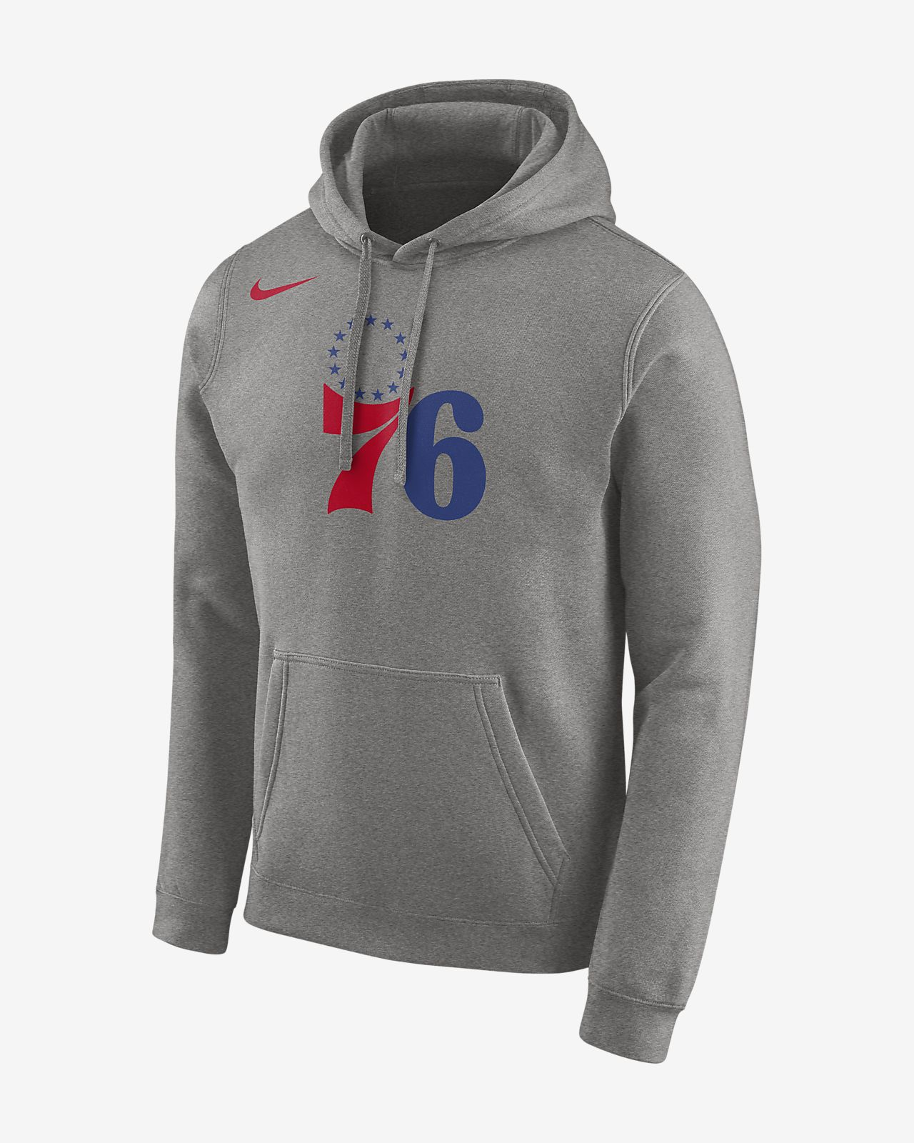 Pánská mikina NBA Philadelphia 76ers Nikes kapucí a logem