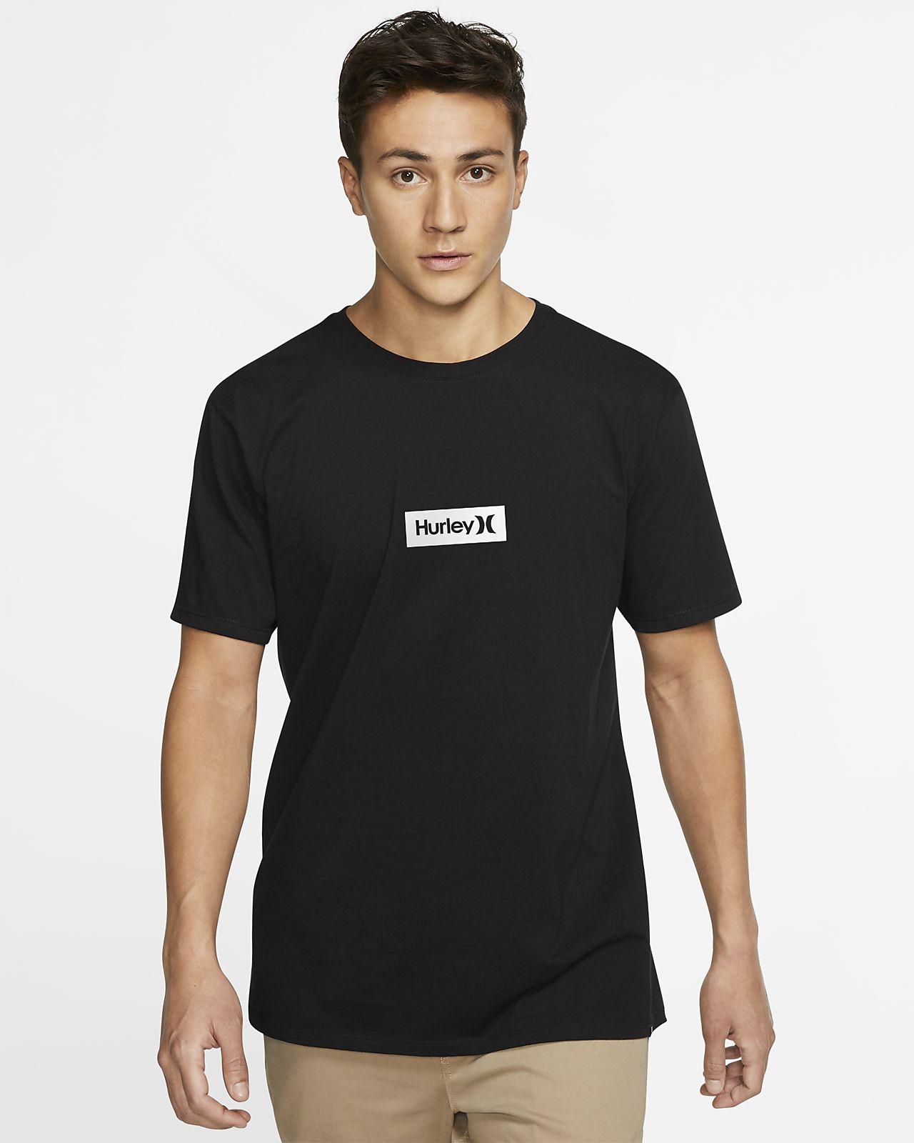 T-shirt com ajuste premium Hurley Premium One And Only Small Box para homem
