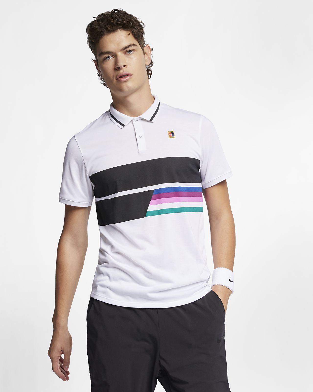 new style b9b13 bd3a2 ... Polo de tennis NikeCourt pour Homme