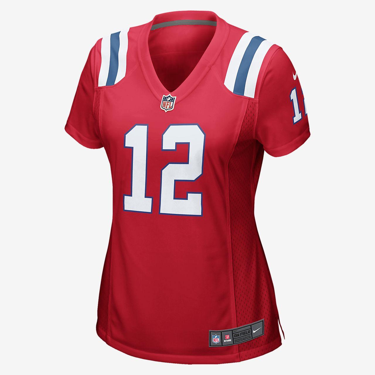 red tom brady jersey women's