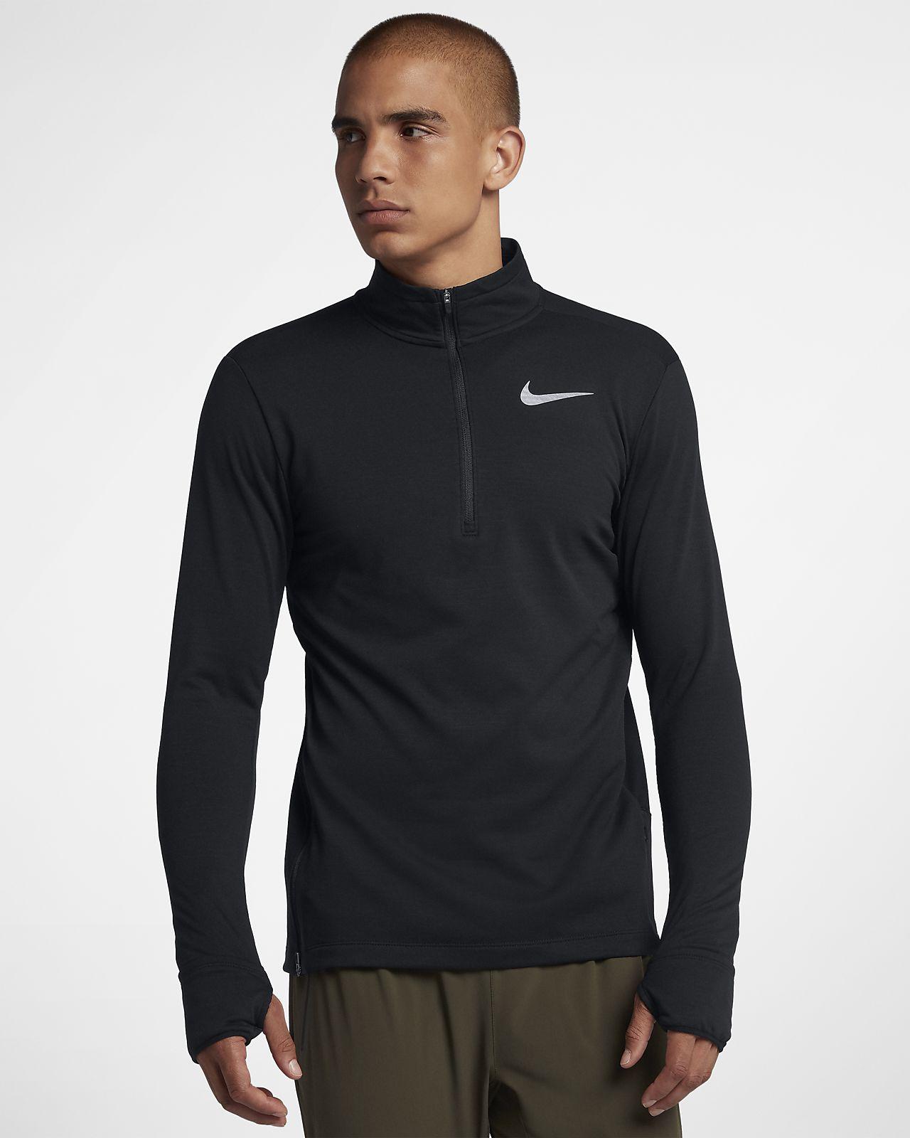 Nike Therma Sphere-løbeoverdel med lynlås i halv længde til mænd