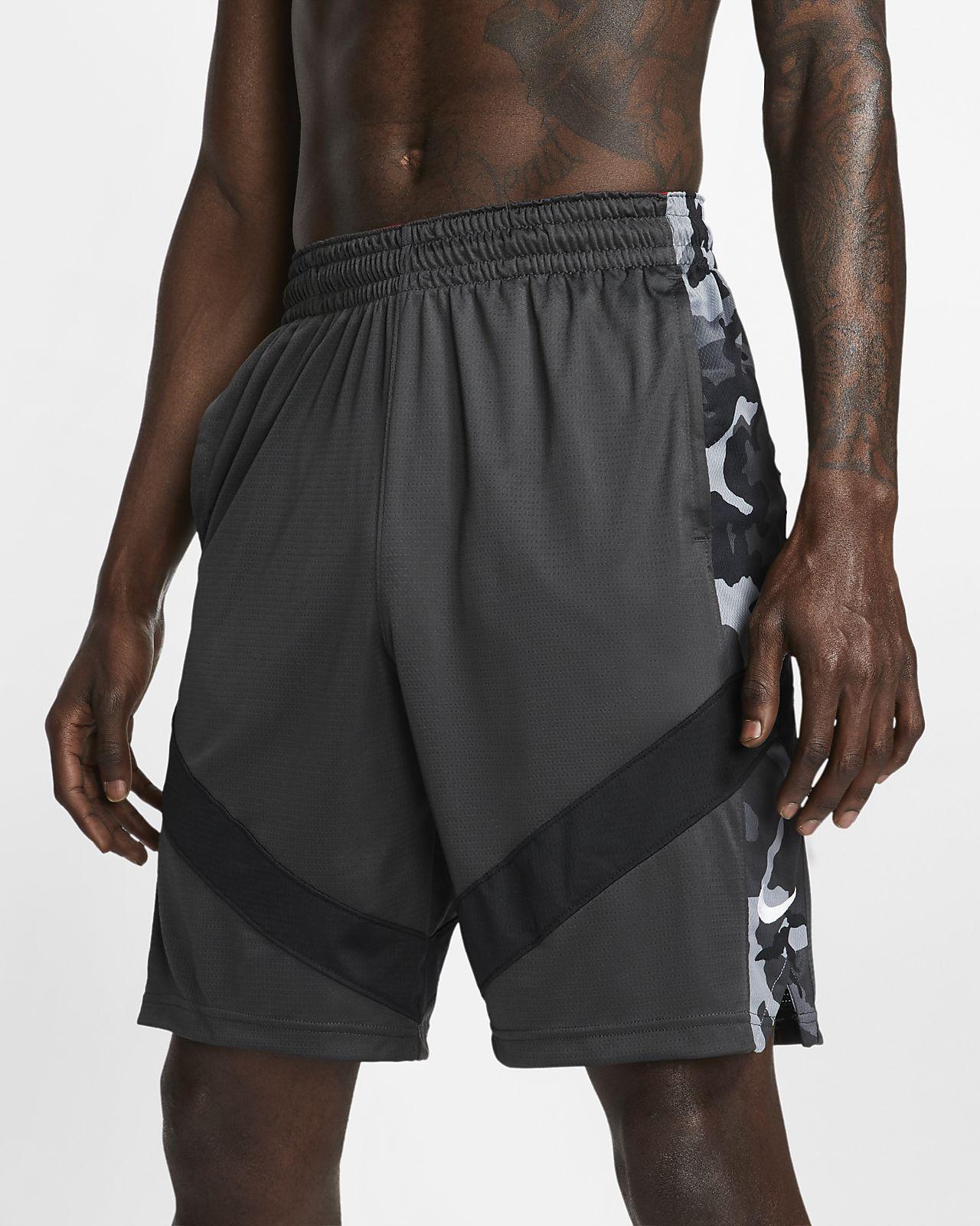 กางเกงบาสเก็ตบอลขาสั้นผู้ชายพิมพ์ลาย Nike Dri-FIT Courtlines