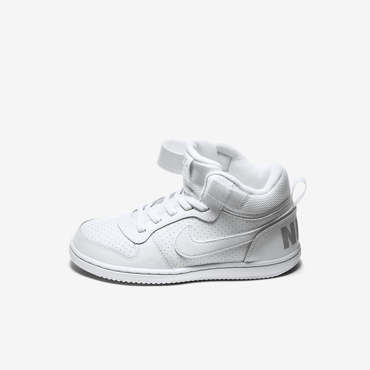 watch 0acd2 adf35 ... NikeCourt Borough Mid Little Kids  Shoe