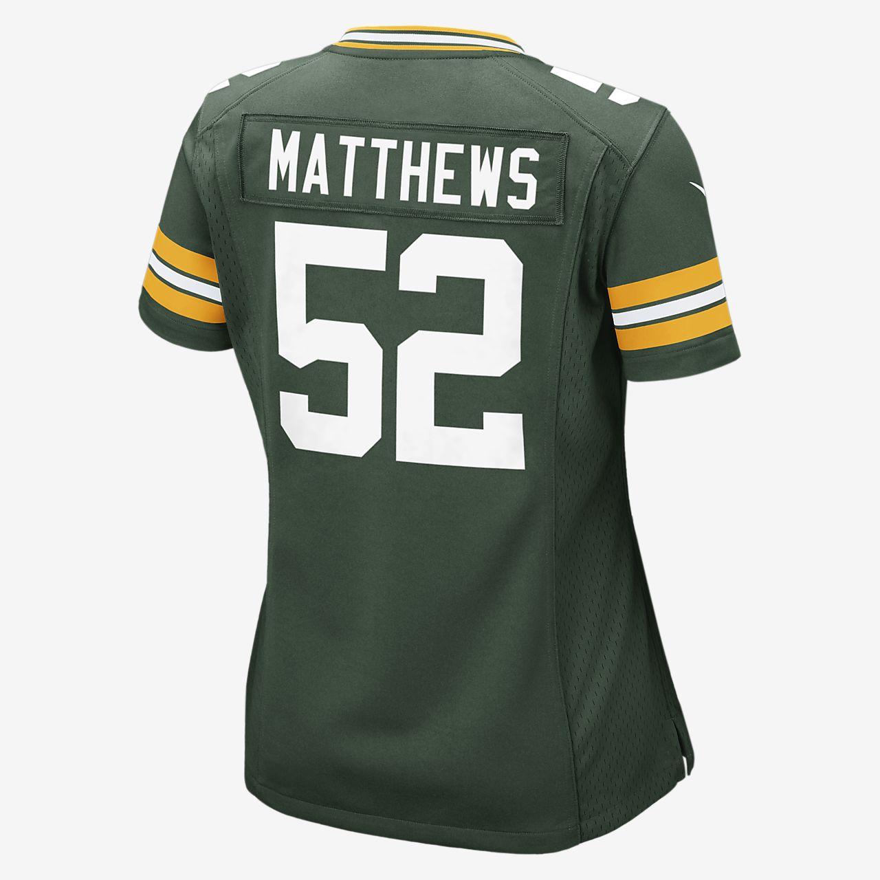 ... NFL Green Bay Packers (Clay Matthews) Women s Football Home Game Jersey e0baba263
