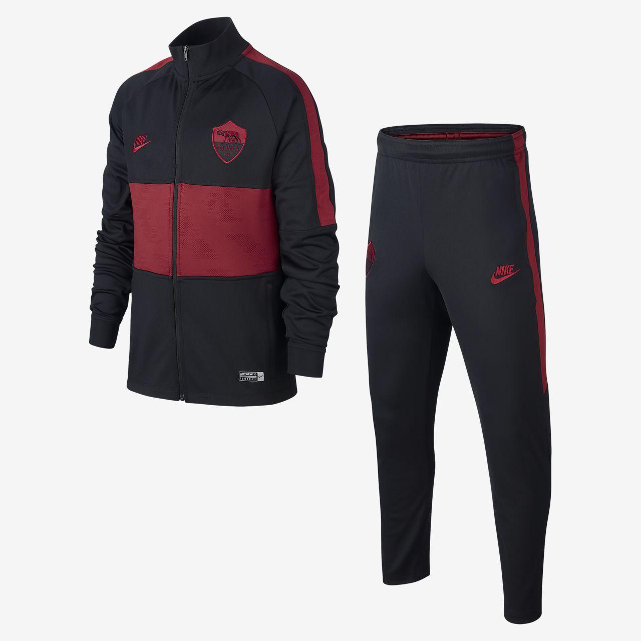 A.S. Rom Strike Fußball-Trainingsanzug für ältere Kinder