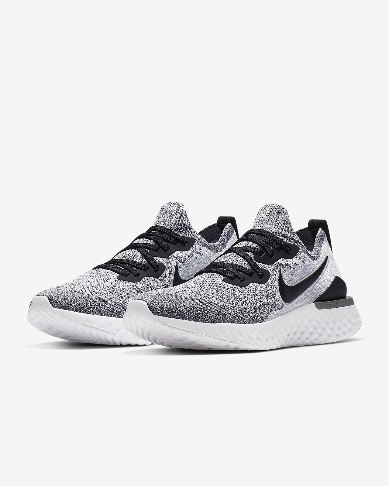 Nike Epic React Flyknit 2 WhiteBlack Pure Platinum